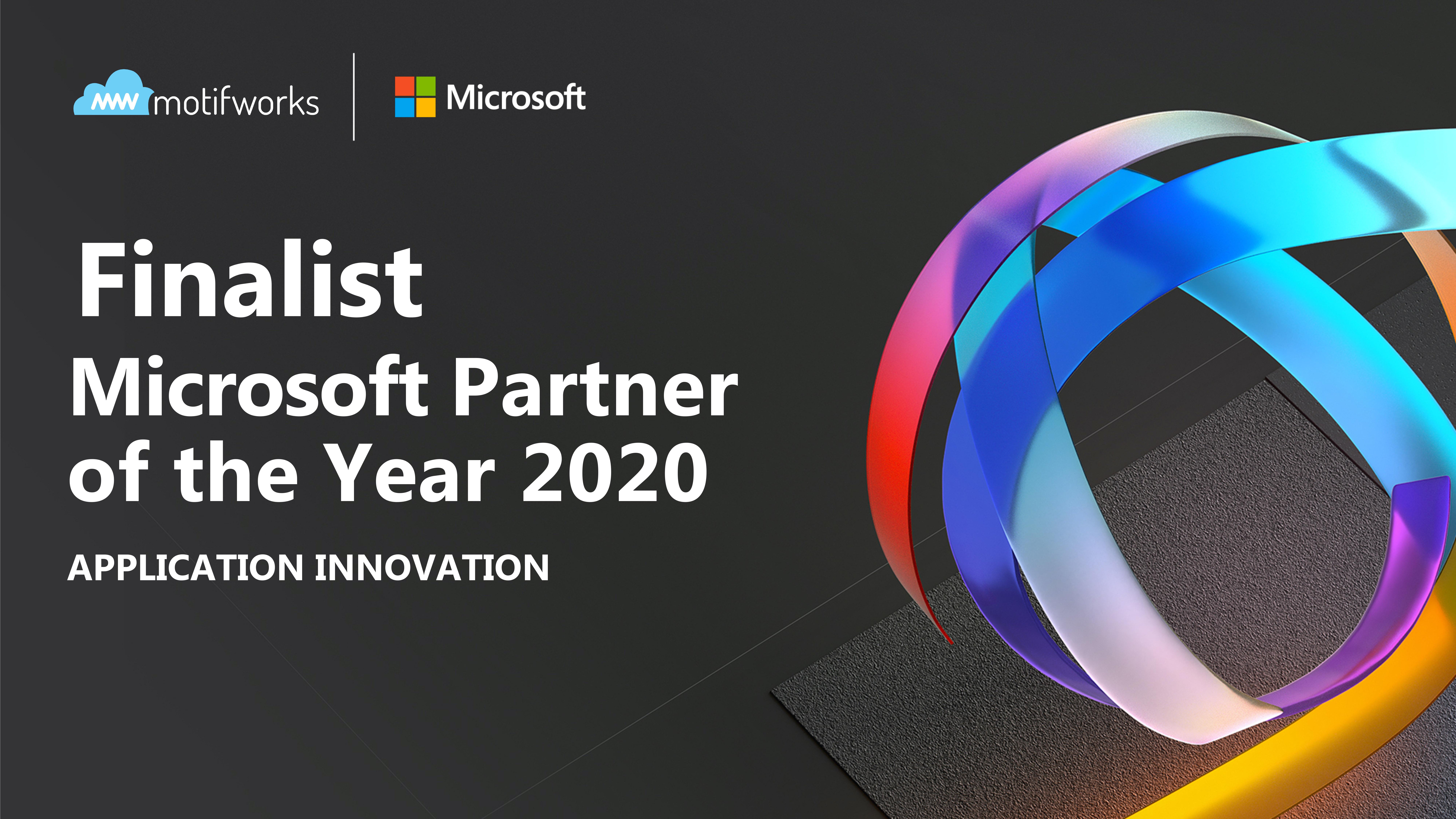 Motifworks - Microsoft's Partner of the Year Finalist 2020